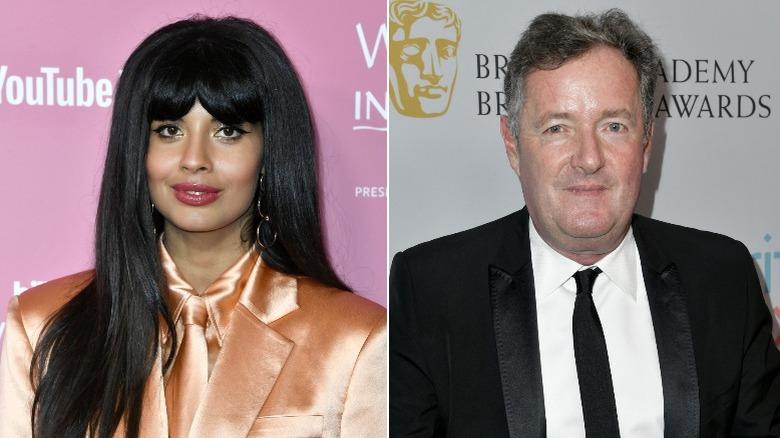 Jameela Jamil et Piers Morgan