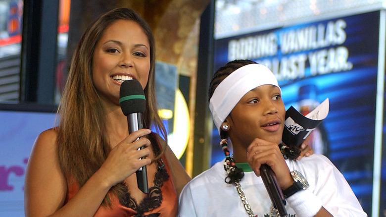 Vanessa Lachey et Roméo sur TRL en 2003