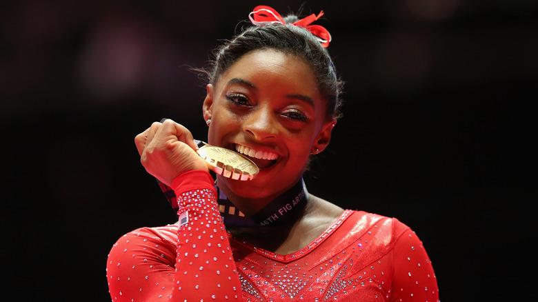 Médaille de morsure Simone Biles