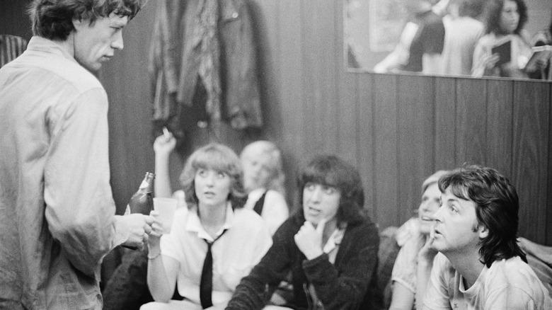 Mick Jagger et Paul McCartney ensemble