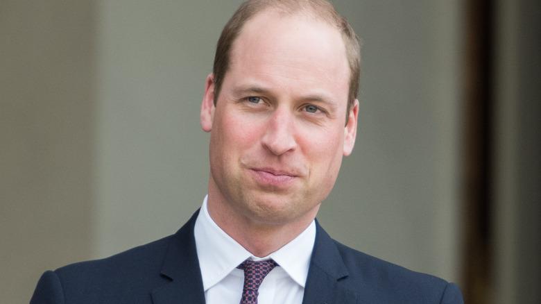 Le prince William pose