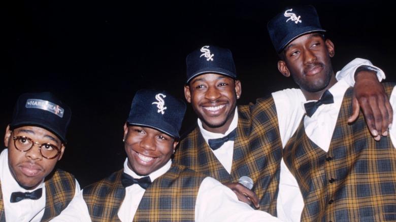 Boyz II Hommes vêtus d'un plaid