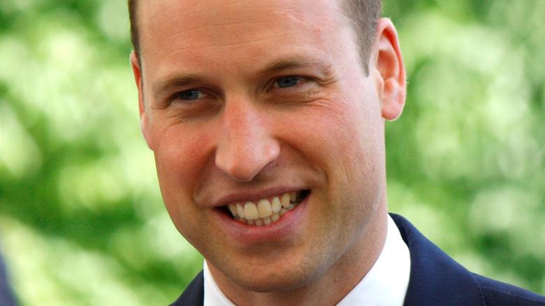 Le prince William souriant